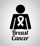 Breast cancer design. Vector illustration eps10 graphic Stock Photography
