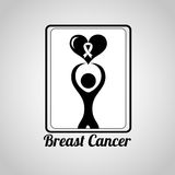 Breast cancer design. Vector illustration eps10 graphic Royalty Free Stock Photos