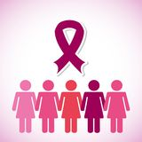 Breast cancer design Stock Images