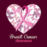 Breast cancer design, vector illustration. Stock Photo