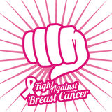 Breast cancer design, vector illustration. Stock Images