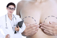 Breast cancer doctor Royalty Free Stock Photos