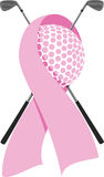 Breast Cancer Golf Design Stock Image
