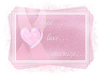 Breast Cancer Hope Love Courage Tag Stock Photo