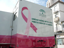 Breast cancer mobile detection unit Royalty Free Stock Photos