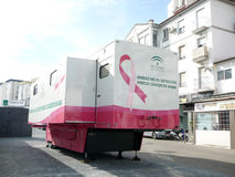 Breast cancer mobile detection unit Stock Photography