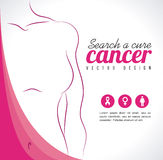 Breast cancer. Over gray   background vector illustration Stock Photos