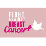 Breast cancer. Over  pink background vector illustration Stock Photography