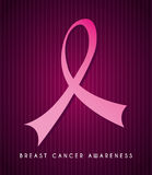 Breast cancer. Over purple background vector illustration Royalty Free Stock Photos