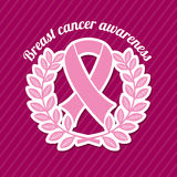 Breast cancer. Over purple background vector illustration Stock Images
