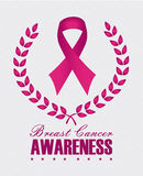 Breast cancer. Over white  background vector illustration Royalty Free Stock Photos