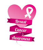 Breast cancer. Over white background vector illustration Stock Image