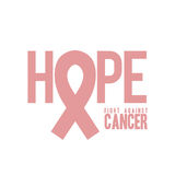 Breast cancer. Over white background vector illustration Royalty Free Stock Images