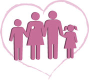 Breast cancer patient family support Stock Photos