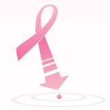 Breast cancer pink ribbon Stock Images