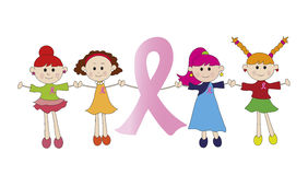 Breast Cancer Pink Ribbon Stock Photography