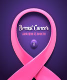 Breast cancer pink ribbon. Royalty Free Stock Images