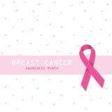 Breast cancer. Pink ribbon. Symbol. Royalty Free Stock Photo
