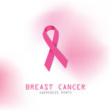 Breast cancer. Pink ribbon. Symbol for breast cancer. Royalty Free Stock Photography