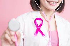 Breast cancer prevent concept Royalty Free Stock Images