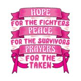 Breast Cancer Quote and Saying best for Graphic your Merchandise vector illustration