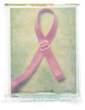 Breast Cancer Ribbon (bra strap) Royalty Free Stock Photography