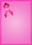 Breast Cancer ribbon Stock Photo