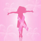 Breast Cancer ribbon Royalty Free Stock Photos