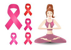 Breast cancer ribbon Royalty Free Stock Photography