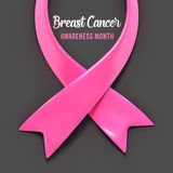 Breast cancer ribbon Stock Images