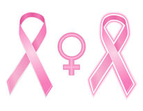 Breast cancer ribbon - vector Stock Images