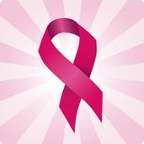 Breast cancer ribbon vector illustration. Woman solidarity. Royalty Free Stock Photo