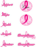 Breast cancer ribbons Royalty Free Stock Photography