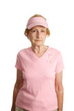 breast cancer serious στοκ φωτογραφίες