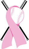 Breast Cancer Softball Design Royalty Free Stock Photography