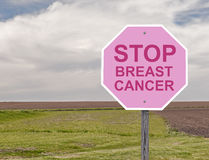 Breast Cancer Stop Sign Stock Photo