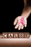 Breast cancer support cause Stock Photo