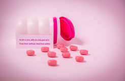 Breast Cancer Support Sentiment Royalty Free Stock Photos