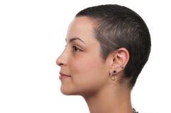 Breast Cancer Survivor. Beautiful breast cancer survivor on white background Royalty Free Stock Photo