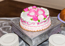Breast Cancer Survivor 50th Birthday Cake Royalty Free Stock Image
