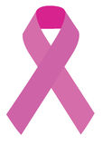 Breast cancer symbol. Pink ribbon representation for breast cancer awareness Royalty Free Stock Photo