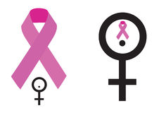 Breast cancer symbol. Breast cancer awareness symbol with women representation sign Royalty Free Stock Image