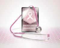 Breast cancer warning Royalty Free Stock Photos