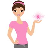 Breast Cancer Woman Royalty Free Stock Photography