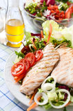 Breast of chicken with fresh salad Stock Photo