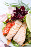 Breast of chicken with fresh salad Royalty Free Stock Photography
