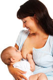 Breast feeding Royalty Free Stock Images