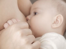 Breast feeding Stock Image
