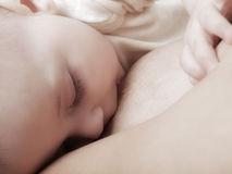 Breast feeding Royalty Free Stock Photography