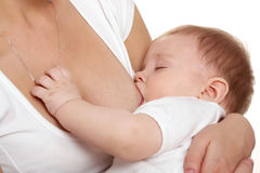 Breast-feeding. Stock Photos